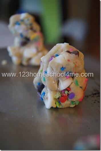 make cookie balls sit up tall