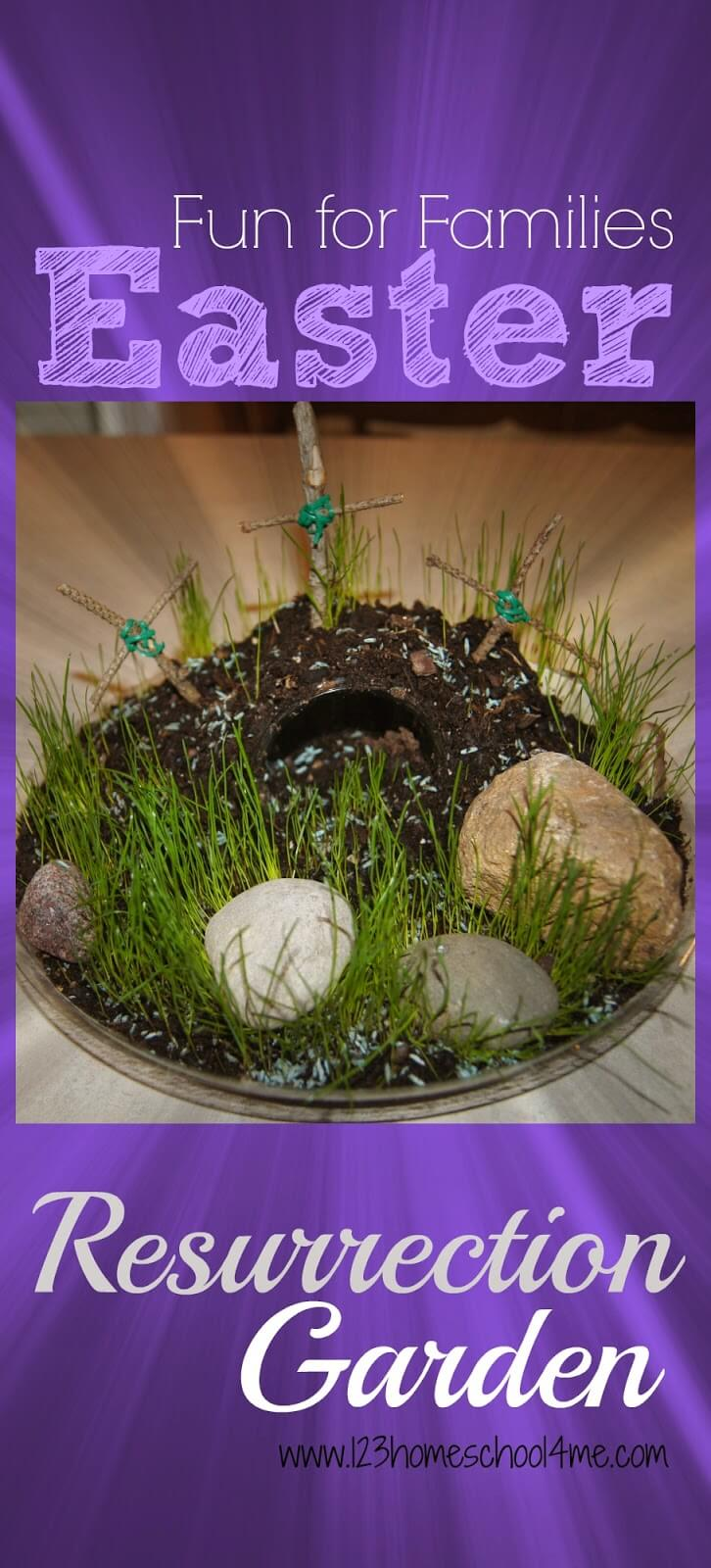 Resurrection Garden - Easter Activity for Families with kids of all ages. This is a fun, simple way to remember the real reason for Easter - Jesus while having fun as a family. #easter #easteractivity
