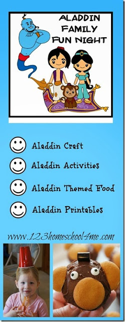 Disney Aladdin Family Fun Night with Aladdin craft, Aladdin Kids Activities, and Aladdin food #klidsactivities #disneyactivities #familyfunnight
