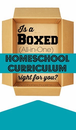 Is a boxed (all in one) homeschool curriculum right for you? Here are tons of curriculum for homeschool in a box #homeschool #homeschooling