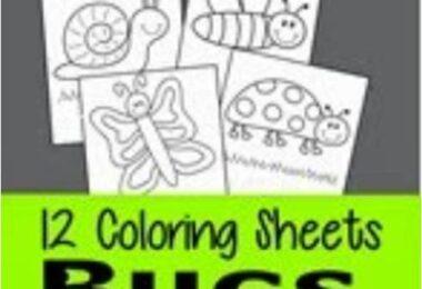 FREE Bug Coloring Sheets