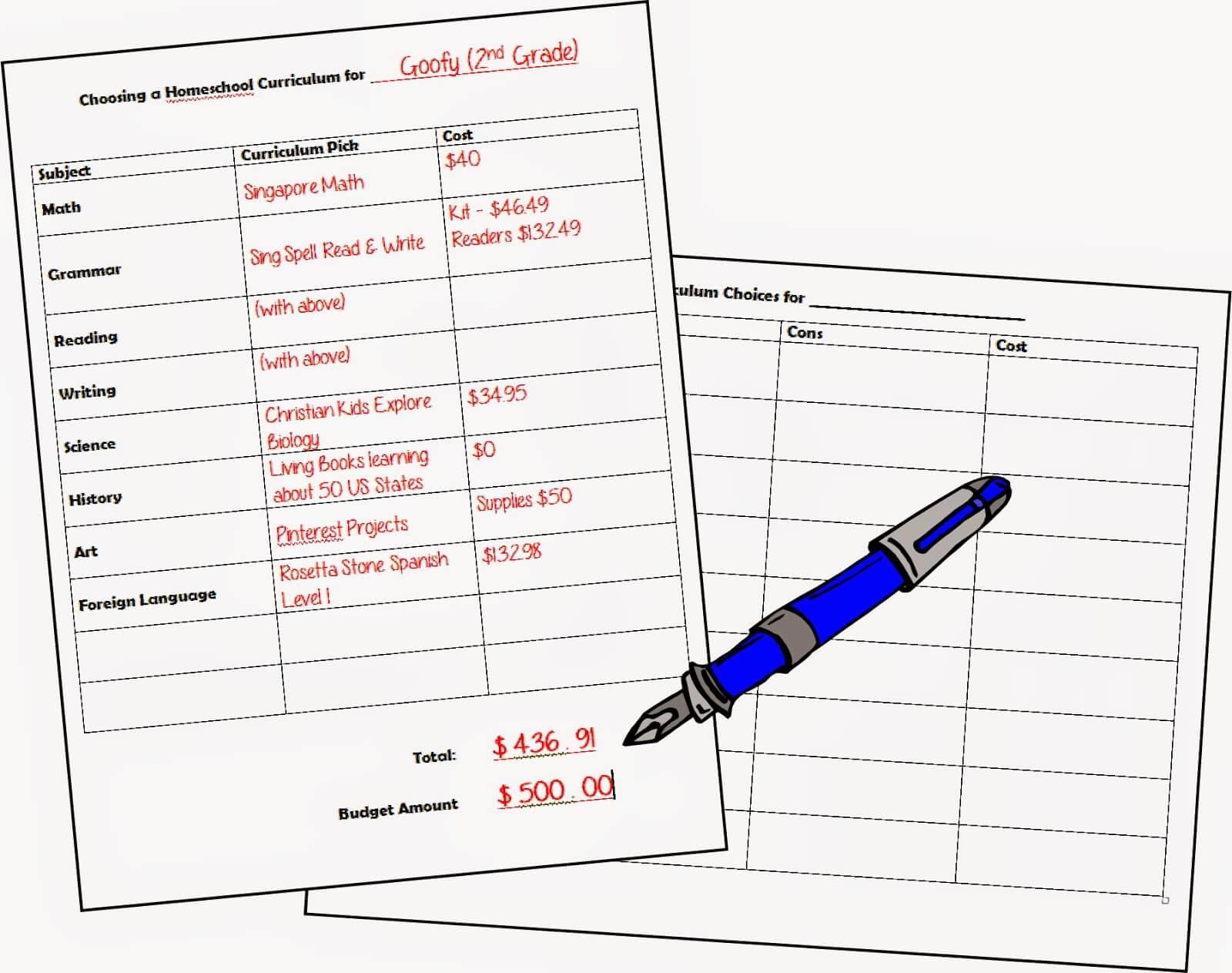 Free Printable Homeschool Curriculum Worksheets
