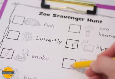 FREE Zoo Scavenger Hunts
