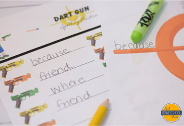 Dart Gun Spelling Practice