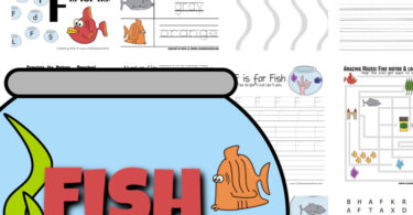 Cute fish worksheets for working on math and literacy skills with preschool and kindegarteners! From alphabet letters to counting, colors, and more!