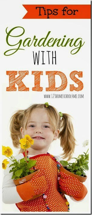 Tips for Gardening with Kids - Practical tips for gardening with kids including what to plant with kids, how to garden successfully with kids, and more. (summer activities for kids, homeschool) #gardening #kidsactivities #summerbucketlist