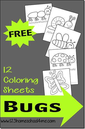 FREE Simple Bug Coloring Pages for Toddler, Preschool, prek, kindergarten, first grade students.. These coloring sheets are perfect for spring and to improve fine motor skills. #coloringpages #coloringsheets