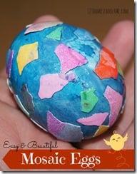 Egg Shell Mosaic Easter Eggs