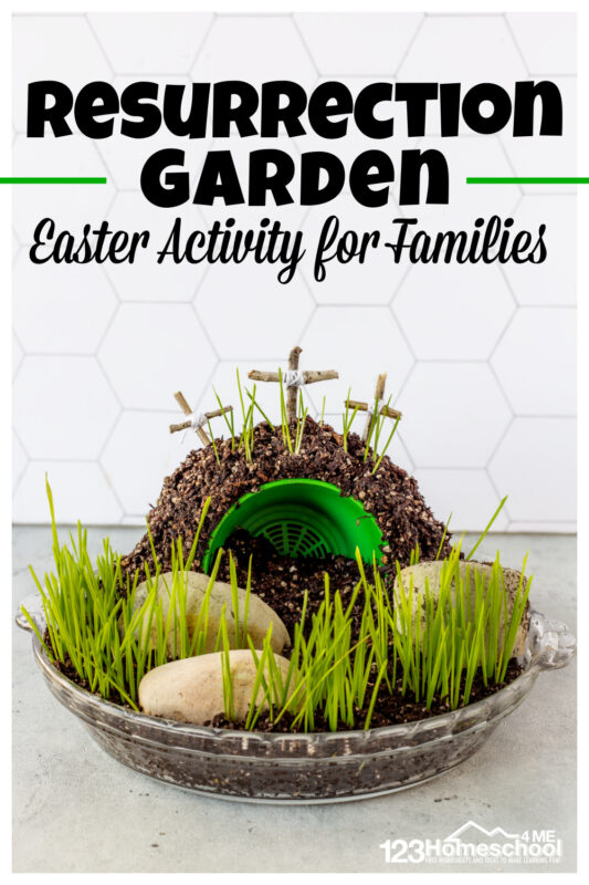 This beautiful, fun, and easy-to-make Resurrection Garden is a meaningful Easter Activity for Christian families. Theresurrection garden craft is such a great centerpiece and reminder of what really matters this Easter. These resurrection activities for kids are fun to watch grow over 5-7 days. ThisJesus resurrection craft is perfect for toddler, preschool, pre-k, kindergarten, first grade, 2nd grade, 3rd grade, 4th grade, 5th grade, and 6th grade students. ThisEaster activities for familiesis sure to become a new favorte annual tradition.