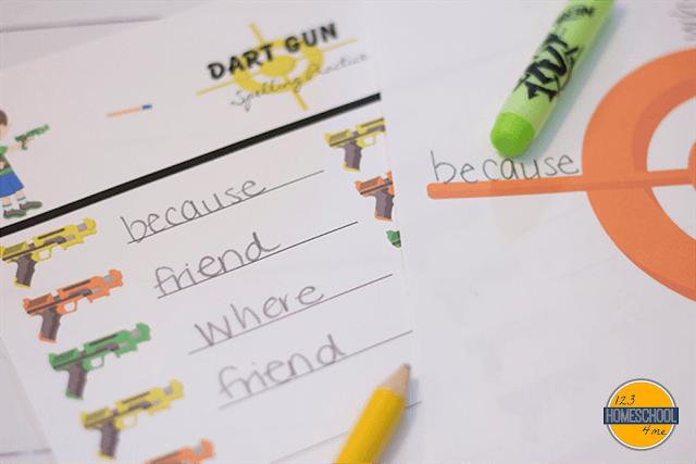spelling words practice