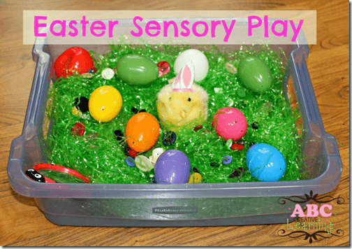 Easter Egg Sensory Play from ABC Creative Learning