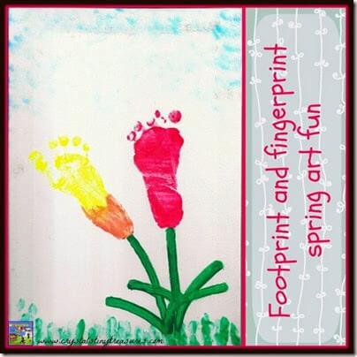 Footprint Tulip Art from Crystals Tiny Treasures