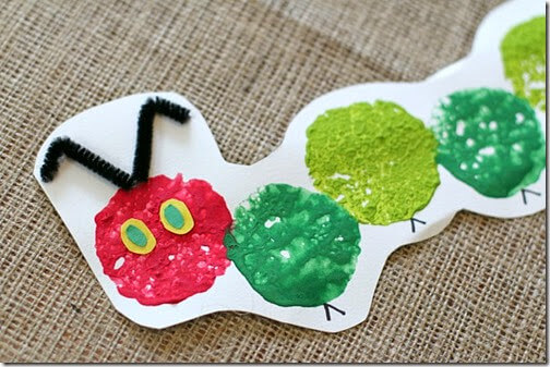 Very Hungry Caterpillar Sponge Craft from Buggy and Buddy