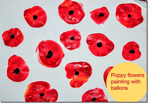 Painting Poppy Flowers with Balloons from Sparkling Buds