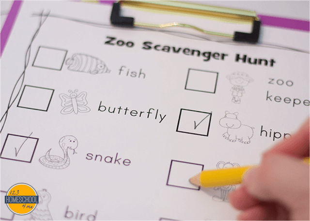 zoo worksheets for kids