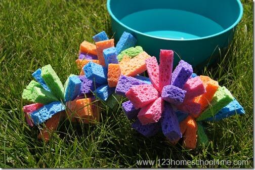 Easy to make sponge balls summer activities for kids