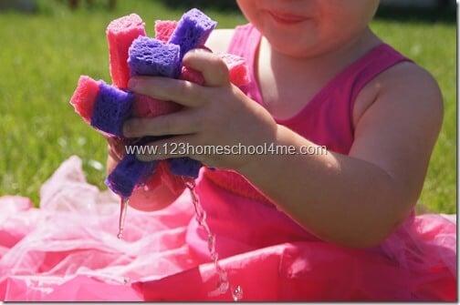 disney princess sponge water ball play for toddler and preschool