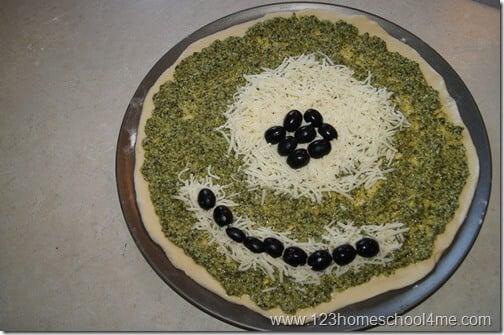 Monsters Inc Inspired Food - Mike Wazowski Pesto Pizza Recipe #recipes #disney