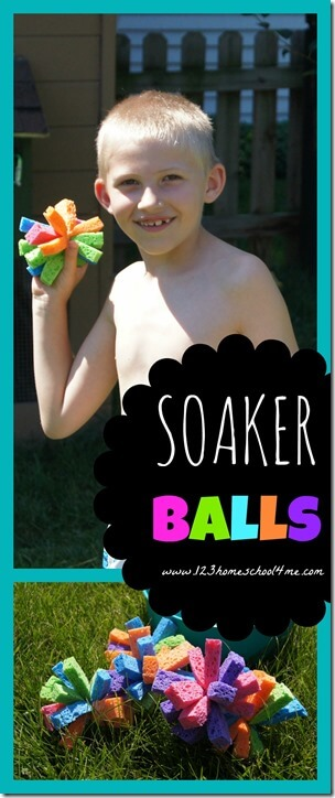 Summer Activities - Soaker Water Sponge Balls is such a fun, simple to put together kids activity for summer. This is fun for kids of all ages! Must do summer bucket list.