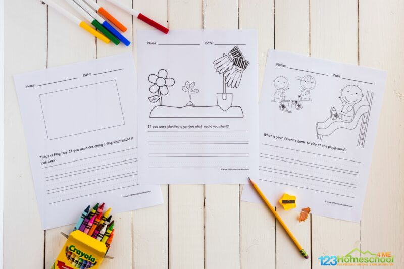 Download the pdf file with Summer Writing Activities