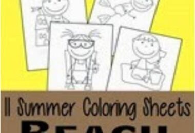 Summer Beach Coloring Sheets