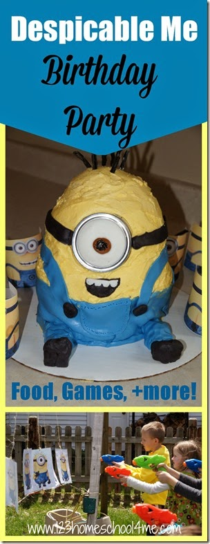 Minion Birthday Party - Despicable Me Birthday Party Ideas for silly food, minion party games, decoration and more