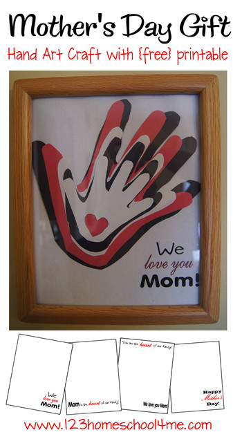 Looking for a fun, QUICK and easy mothers day gifts from kids? This pretty mother's day handprint art is so simple, but so special! Thismother's day handprint ideas your family can make for Mom in only 10 minutes. Plus it is so special, it will become a priceless keepsake for Mom that keeps well! Simply download pdf file withfree printable mothers day crafts and you are ready to go!