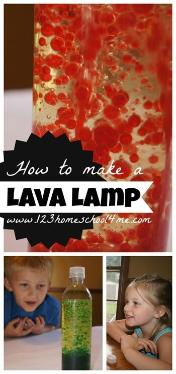How to make a lava lamp - this is such a fun, easy to make science experiment for kids of all ages. This is great for a summer bucket list #scienceproject #summerlearning #kidsactivities