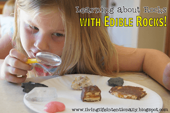 Homeschool Earth Science Unit - Learning about rocks with edible rocks #science