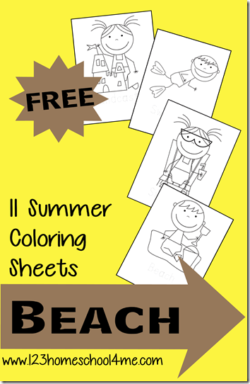 Coloring Pages - Super cute summer Coloring sheets for Kids from Toddler and Preschool to Kindergarten and 1st grade.