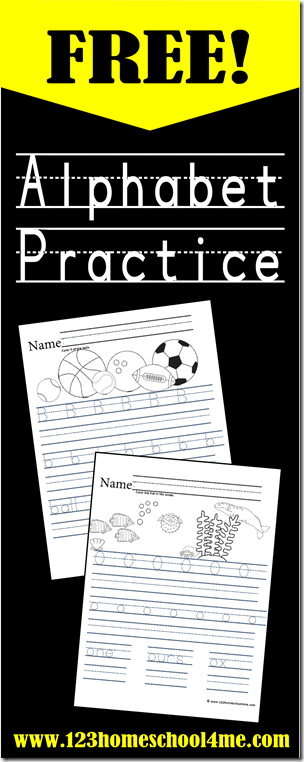 FREE Alphabet Worksheets - these free printable pages are perfect for helping preschool, kindergarten, and first grade practice writing letters, for handwriting practice, homework, summer learning, homeschool, and more.