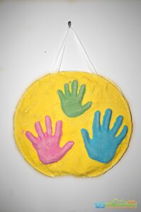 3d mothers day handprint art made with plaster