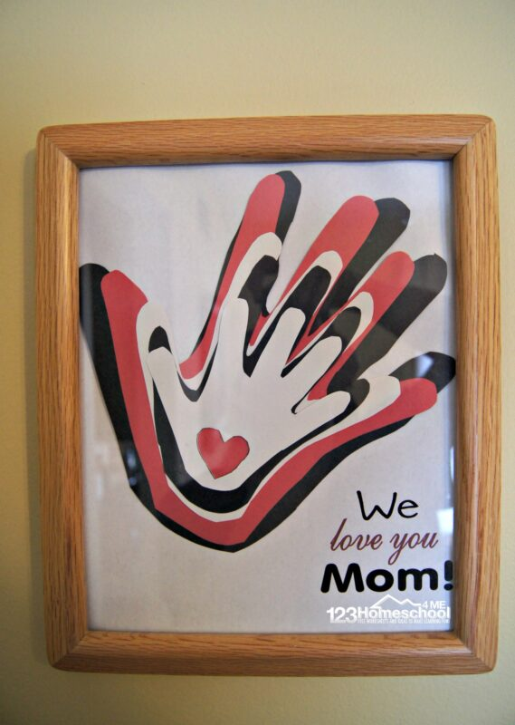 Easy Mothers Day Craft 123 Homeschool 4 Me