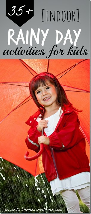 35+ Indoor rainy day kids activities - so many really fun, creative, and unique ideas for kids of all ages. So many fun clever ideas!! #kidsactivities #rainyday