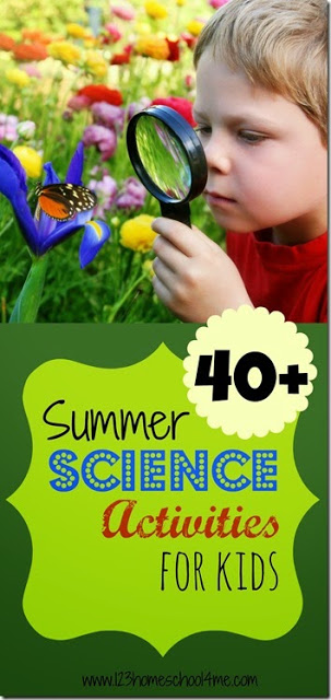 Over 40 Summer Science Experiments - these are such fun kids activities perfect for summer learning, science fun, summer bucket lists, and summer homeschoolers, and science projects #summerscience #scienceactivities #kidsactivities
