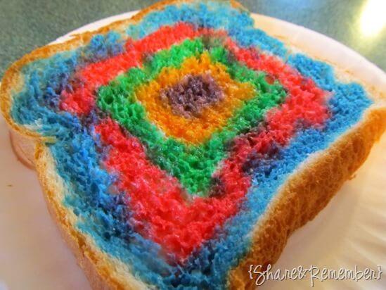 Rainbow Painted Toast