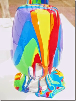 Pour Paint Rainbow Vases for Mom from Growing a Jeweled Rose
