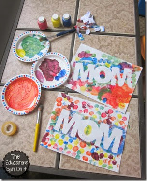 """MOM"" Mother's Day Craft from The Educator's Spin on It"