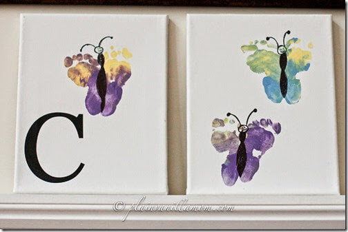 Butterfly Footprint Mother's Day Craft from Plain Vanilla Mom