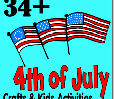 34+ 4th of July Crafts and Kids Activities - so many fun, creative and unique ideas for toddler, preschool, kindergarten, and elementary age kids to celebrate fourth of july! Make this the best Independence day for kids #4thofjuly #fourthofjuly #independenceday