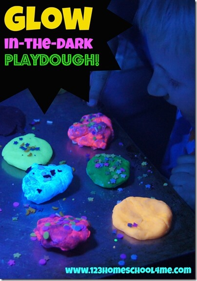 Get ready for your kids to be amazed with this epicglow in the dark playdough recipe! This easy-to-makeGlow in the Dark Play Doh recipe is sure to delight your toddler, preschool, pre-k, kindergarten and first grade students. They will be amazed how their playdough will come alive in the dark. This playdough activity for kids is sure to create some special memories!