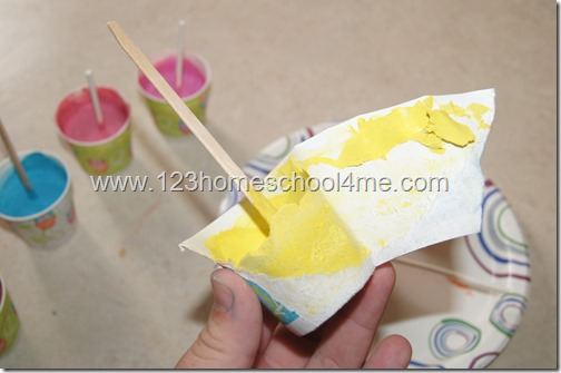 How to make chalk for kids summer activity