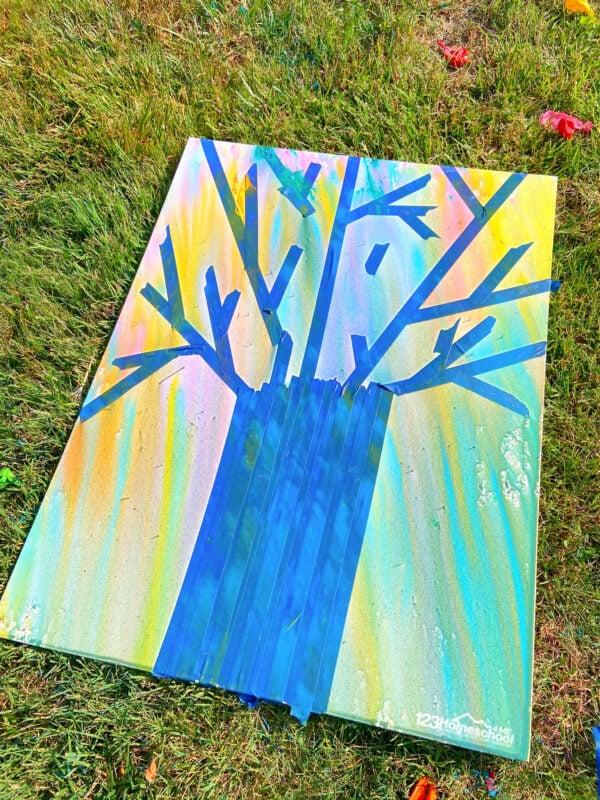 splatter painting project