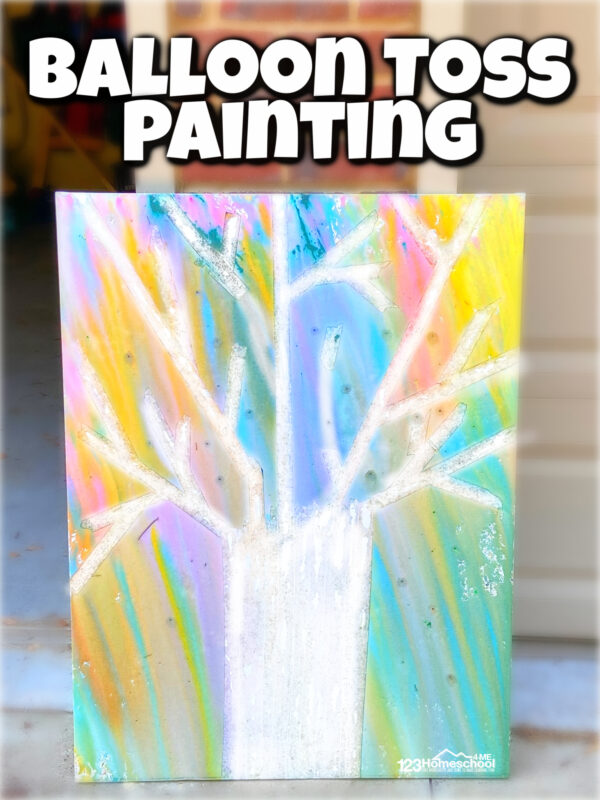 balloon toss painting for kids