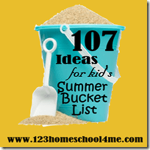107 Summer Activities for Kids Bucket Lists