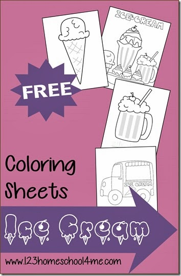 FREE Summer Ice Cream Coloring Pages - These coloring sheets are such a fun way for toddler, preschool, kindergarten, and first grade kids to strengthen motor skills and have some summer fun. Great for road trips too!