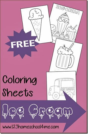 Ice Cream Coloring Sheets for Summer