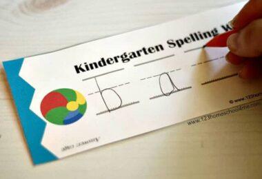 FREE Kindergarten Spelling Practice