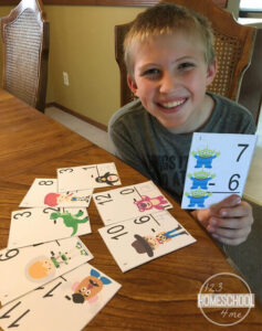 Toy Story Subtraction Flashcards