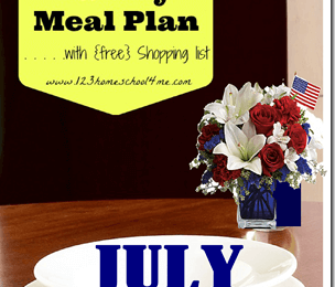 Free July Menu for Families